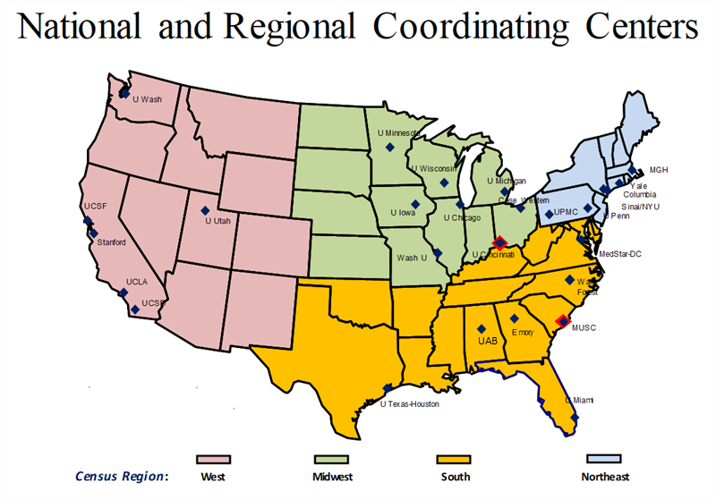 National and Regional Stroke Centers